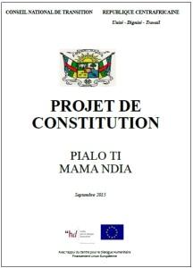 Projet de Constitution 2015